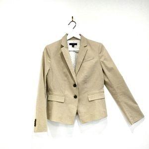 Ann Taylor Petite Khakhi Jacket Blazer Sz 4P